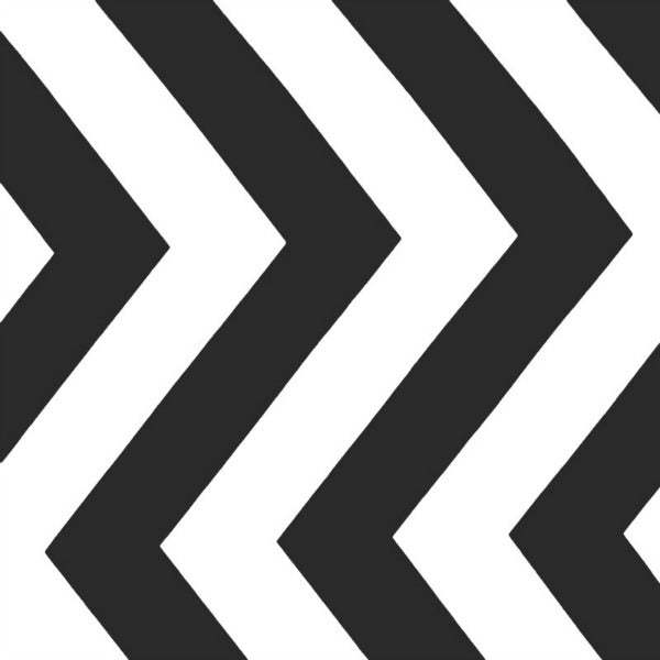 Half Moon Modern by Moda Fabrics - Black Big Zig Zag (32349-12)