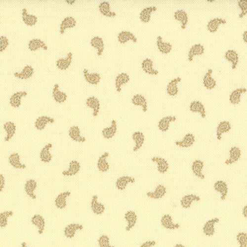 Holiday in Kashmir by Sentimental Studios - Ivory Metallic Mini Paisley (32656-11)