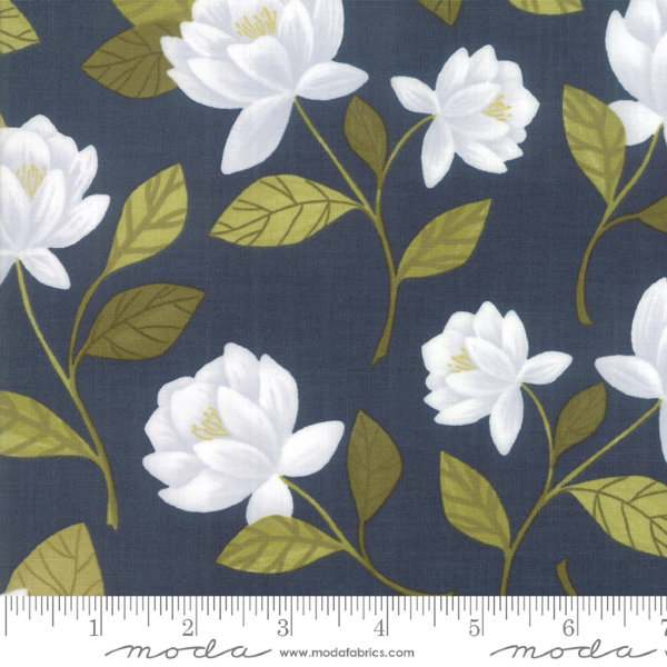 Goldenrod by One Canoe Two - Raleigh Floral in Navy (36050-12)