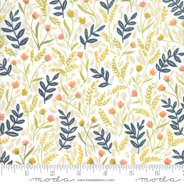 Goldenrod by One Canoe Two - Meadow Floral in White (36051-11)