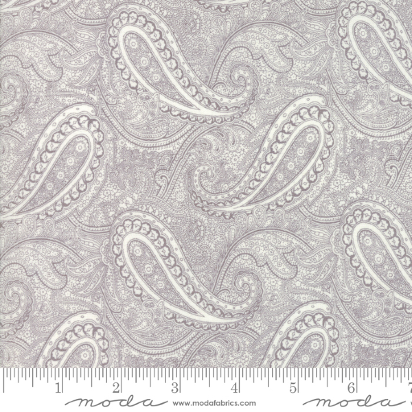 Porcelain by 3 Sisters - Etched Paisley in Dove (44192-12)