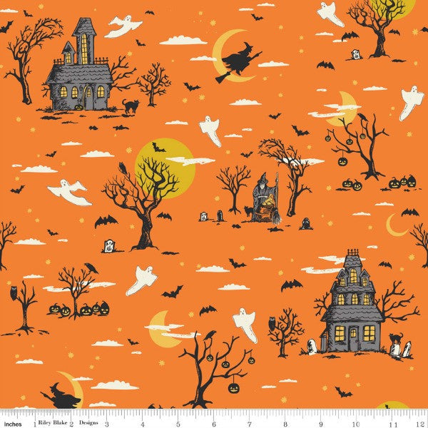 Happy Haunting by Deena Rutter - Haunting Main in Orange (C4670-ORANGE)