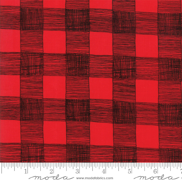 Farm Fresh by Gingiber - Rustic Gingham in Rooster Red (48265-15)