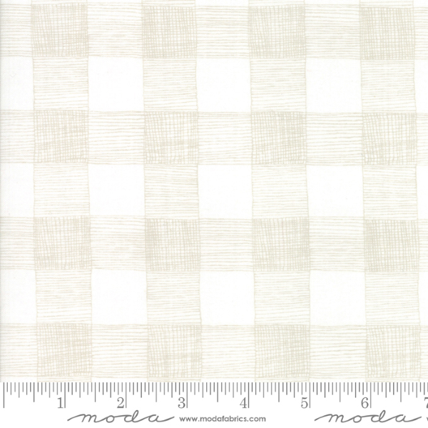 Farm Fresh by Gingiber - Rustic Gingham in Cloud (48265-21)