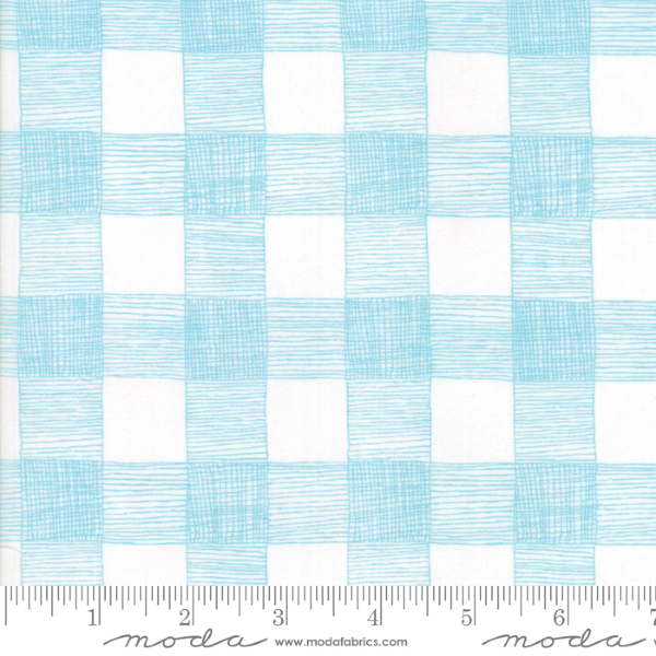 Farm Fresh by Gingiber - Rustic Gingham in Cloud and Sky (48265-23)