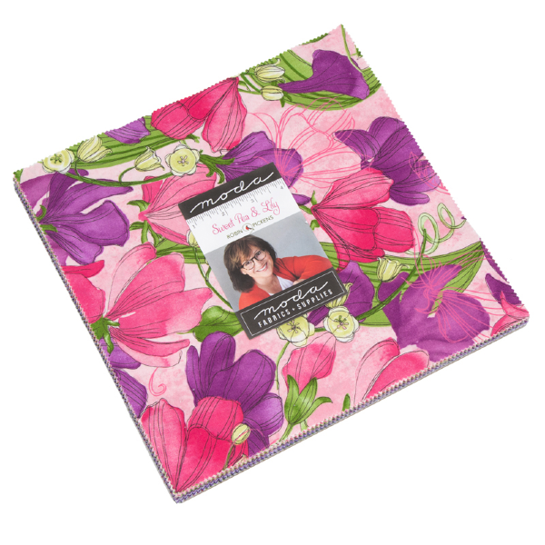Sweet Pea & Lily by Robin Pickens - Layer Cake (48640LC)