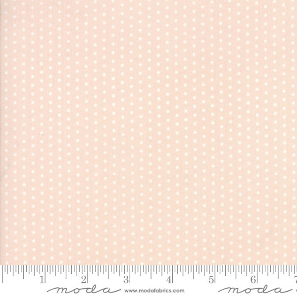 Hushabye Hallow by Lydia Nelson - Pin Dot in Sweet Cheeks BRUSHED COTTON (49008-29B)