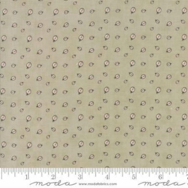 Hushabye Hallow by Lydia Nelson - Lady Bugs in Moonbeam BRUSHED COTTON (49016-18B)