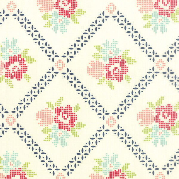 Vintage Picnic by Bonnie and Camille - Mayberry Mum in Cream (55120-19)