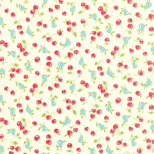 Vintage Picnic by Bonnie and Camille - Cherries & Pears in Cream (55123-17)
