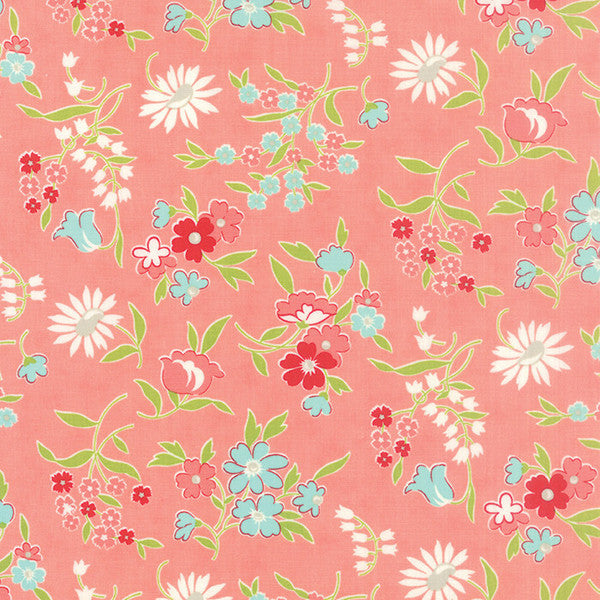 Vintage Picnic by Bonnie and Camille - Playful in Coral (55125-13)