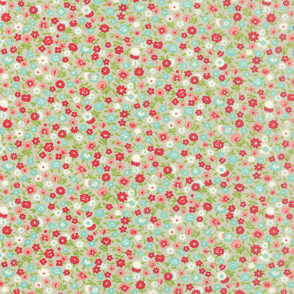 Vintage Picnic by Bonnie and Camille - Wildflowers in Gray (55126-15)