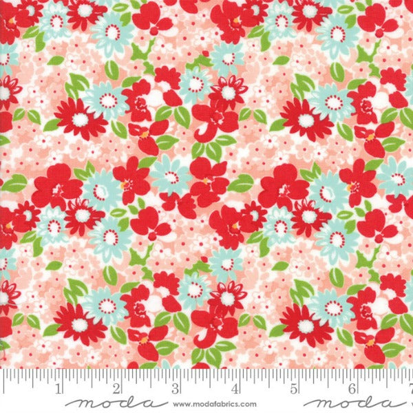 The Good Life by Bonnie and Camille - Flower Garden in Coral (55155-13)