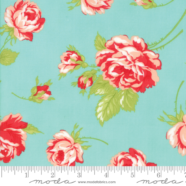 Smitten by Bonnie and Camille - Rosy in Aqua LAWN (55170-12LW)