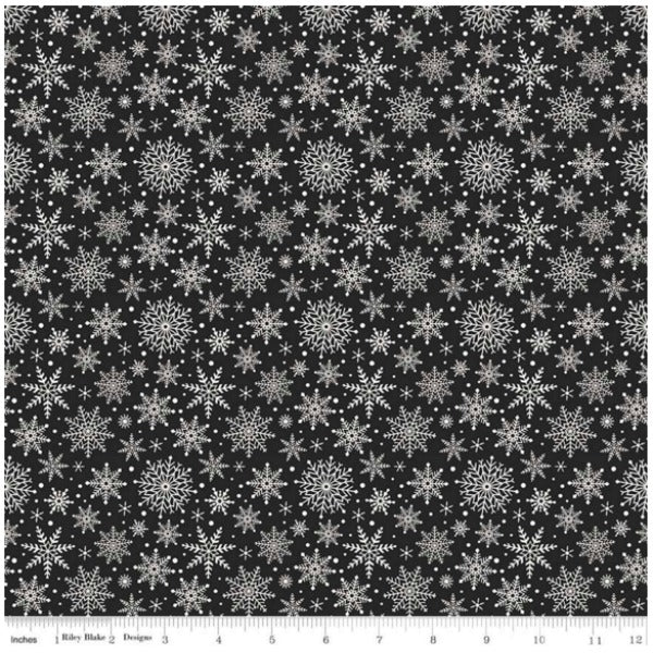 Comfort and Joy by Dani Mogstad - Comfort Snowflakes in Black (C6265-BLACK)
