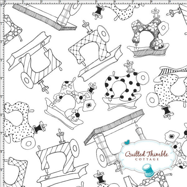 Sew Essential by Loralie Designs - Sewing Machines White (691-814)