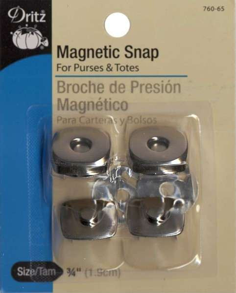 Magnetic Snap Square Nickel 3/4in