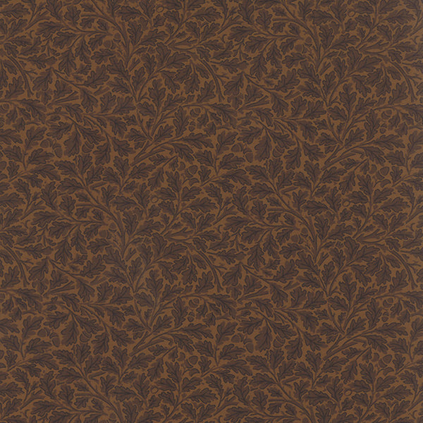Best of Morris by Barbara Brackman - Forest Oak in Brown (8140-36)