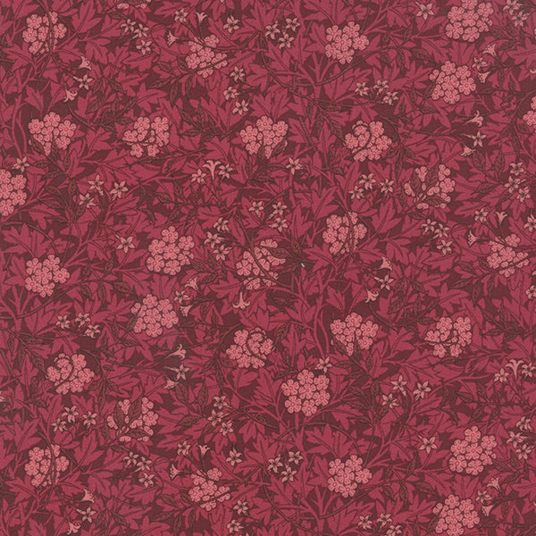 Best of Morris by Barbara Brackman - Honeysuckle in Red (8141-25)