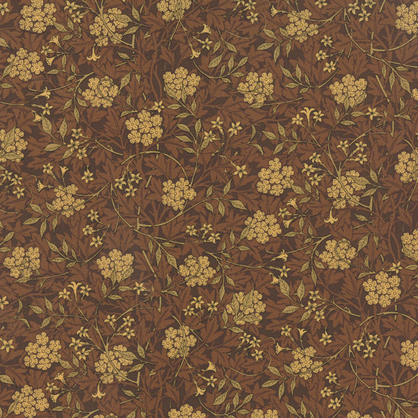 Best of Morris by Barbara Brackman - Honeysuckle in Brown (8141-26)