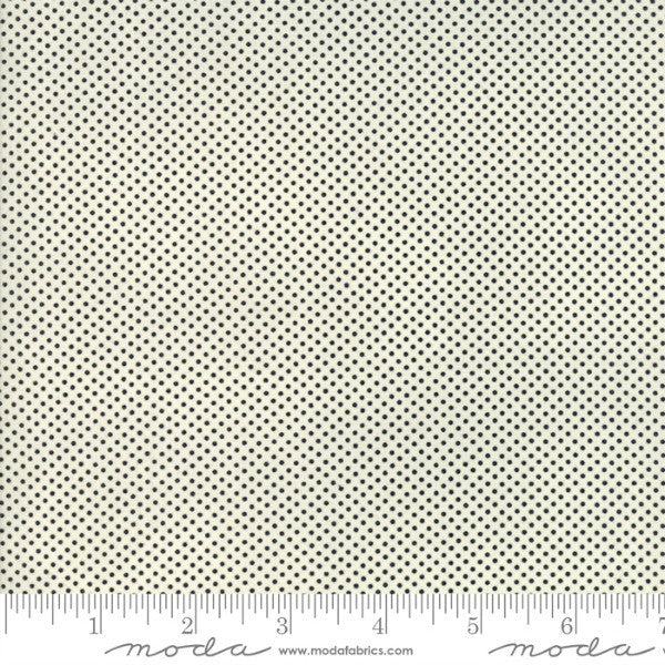 Essentially Yours by Moda - Black on White Mini Dot (8655-125)