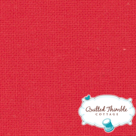Bella Solids by Moda Fabrics - Bettys Red (9900-123)