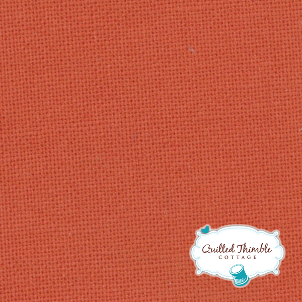 Bella Solids by Moda Fabrics - Betty's Orange (9900-124)