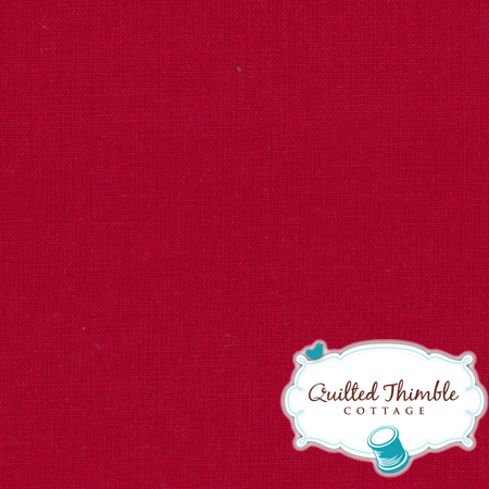 Bella Solids by Moda Fabrics - Christmas Red (9900-16)