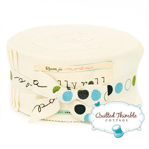 Bella Solids by Moda Fabrics - Jelly Roll - Snow (9900JR-11)