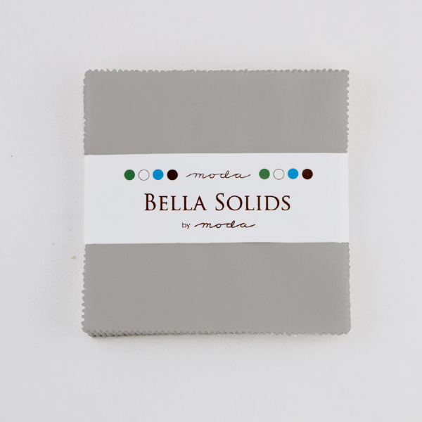 Bella Solids by Moda Fabrics - Charm Pack - Silver (9900PP-183)