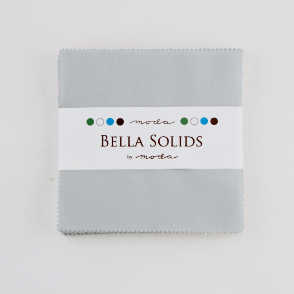 Bella Solids by Moda Fabrics - Charm Pack - Zen Grey (9900PP-185)
