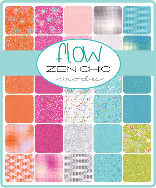 Flow by Zen Chic - Pearl in Graphite (1595-15)