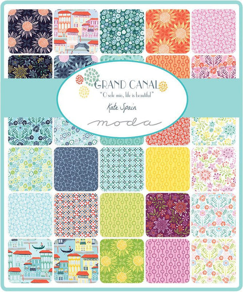 Grand Canal by Kate Spain - Milleflori in Aqua (27254-23)