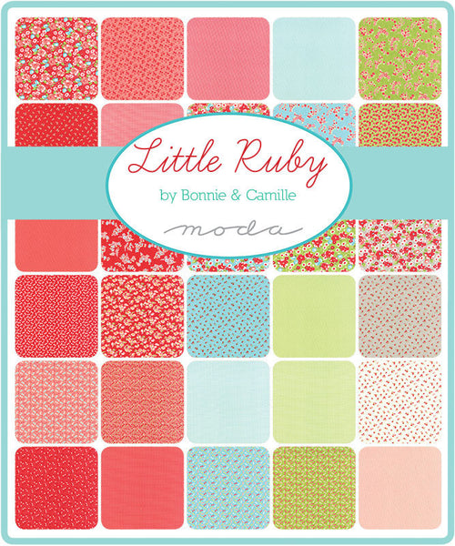Little Ruby by Bonnie and Camille - Little Bows in Red FLANNEL (55135-11F)
