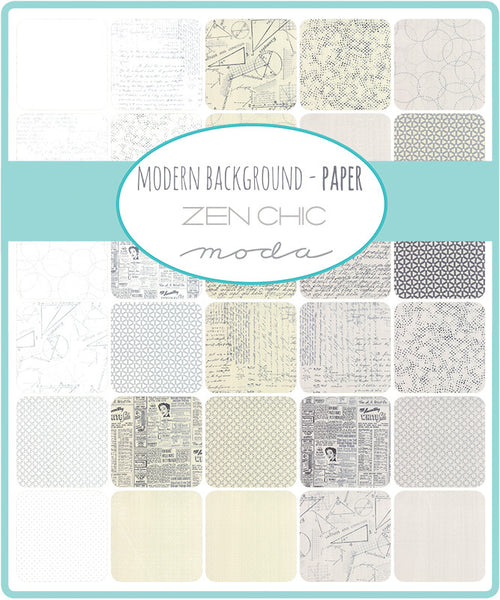 Modern Background Paper by Zen Chic - Stamped Dots in Charcoal Fog (1586-16)