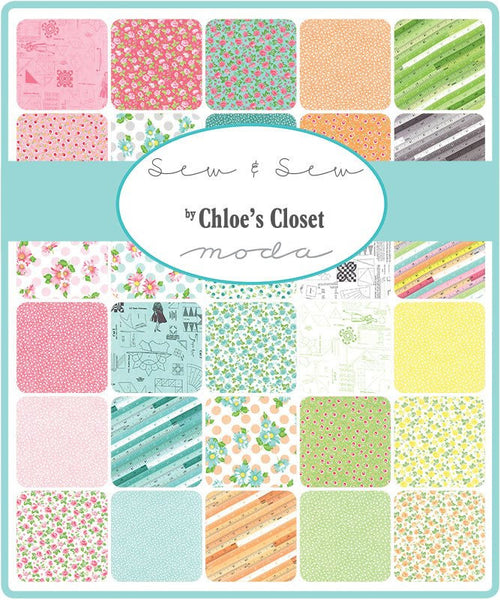 Sew & Sew by Chloe's Closet - Garden in Berrylicious Whip Cream (33183-17)