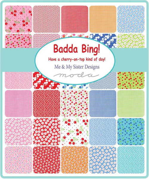 Badda Bing by Me and My Sister Designs - Dots of Cherries in White (22342-16)
