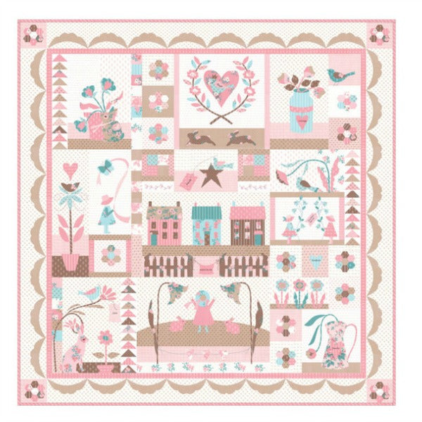 MERCI LA VIE Quilt Kit with Moda Kindred Spirits Fabric by Bunny Hill Designs (Kit2890)