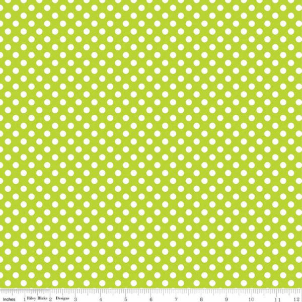 Small Dots by The RBD Designers - Small Dot in Lime (C350-32-LIME)