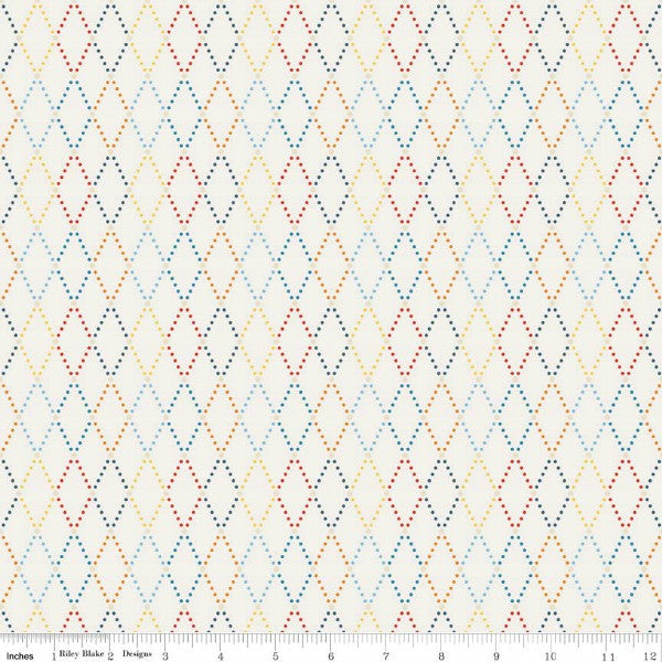 Lucky Star by Zoe Pearn - Argyle in Cream (C4832-CREAM)