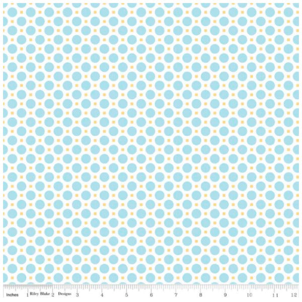 Sew Cherry 2 by Lori Holt - Circle in Aqua (C5805-AQUA)