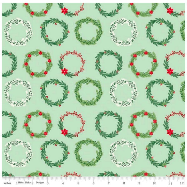Comfort and Joy by Dani Mogstad - Comfort Wreaths in Light Green (C6263-LTGREEN)