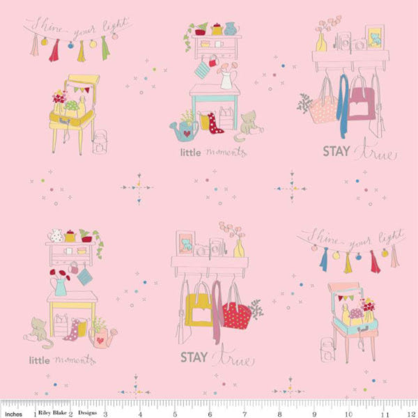 Dear Diary by Minki Kim - Main in Pink (C6670-PINK)