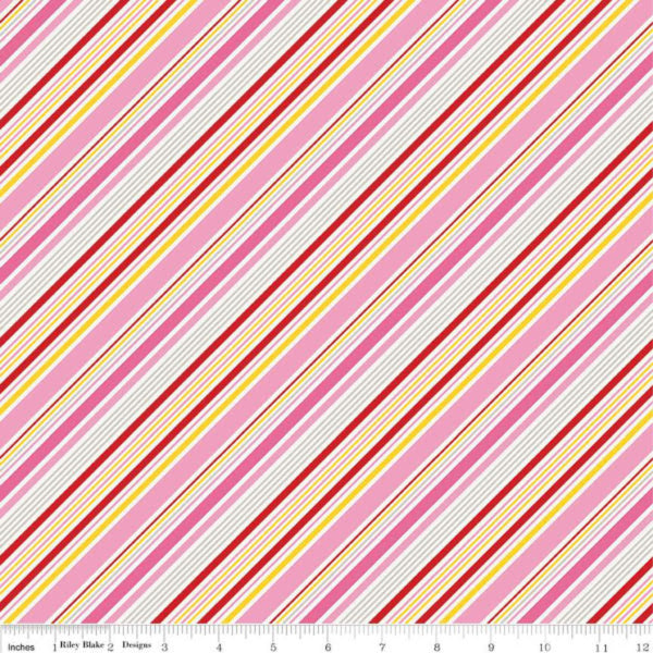Happiness is Handmade by Lori Whitlock - Stripe in Pink (C6725-PINK)