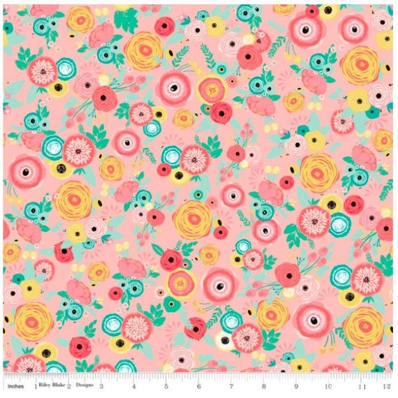 Just Sayin' by My Minds Eye - Just Sayin' Floral in Pink (C6891-PINK)