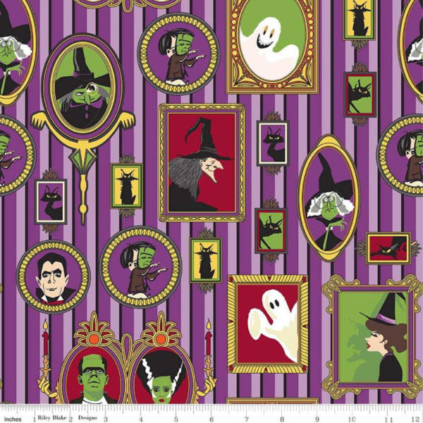 Haunted House by Carta Bella Paper Co - Main in Purple (C7130-PURPLE)