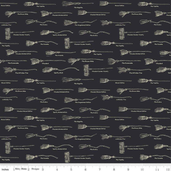 Haunted House by Carta Bella Paper Co - Broom in Black (C7132-BLACK)