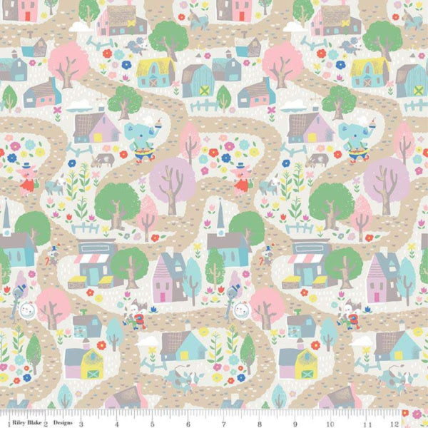 Once Upon a Rhyme by Jill Howarth - Village in Cream (C8021-CREAM)