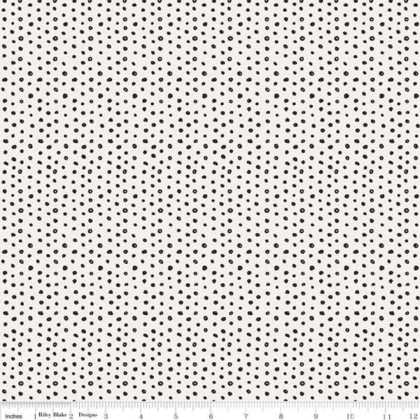 Cats, Bats and Jacks by My Minds Eye - Dots in Cream (C8056-CREAM)
