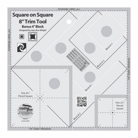 8in Square on Square Trim Tool by Creative Grids